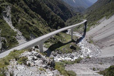 Otira Viadukt vom Deaths Corner aus gesehen