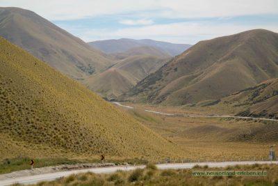 Der Lindis Pass auf Neuseeland