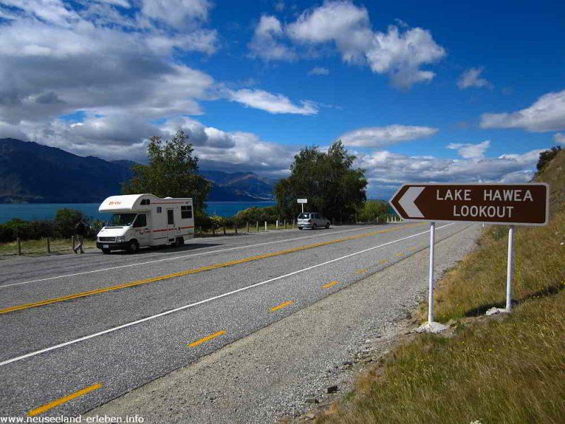 Aussichtpunkt am Lake Hawea