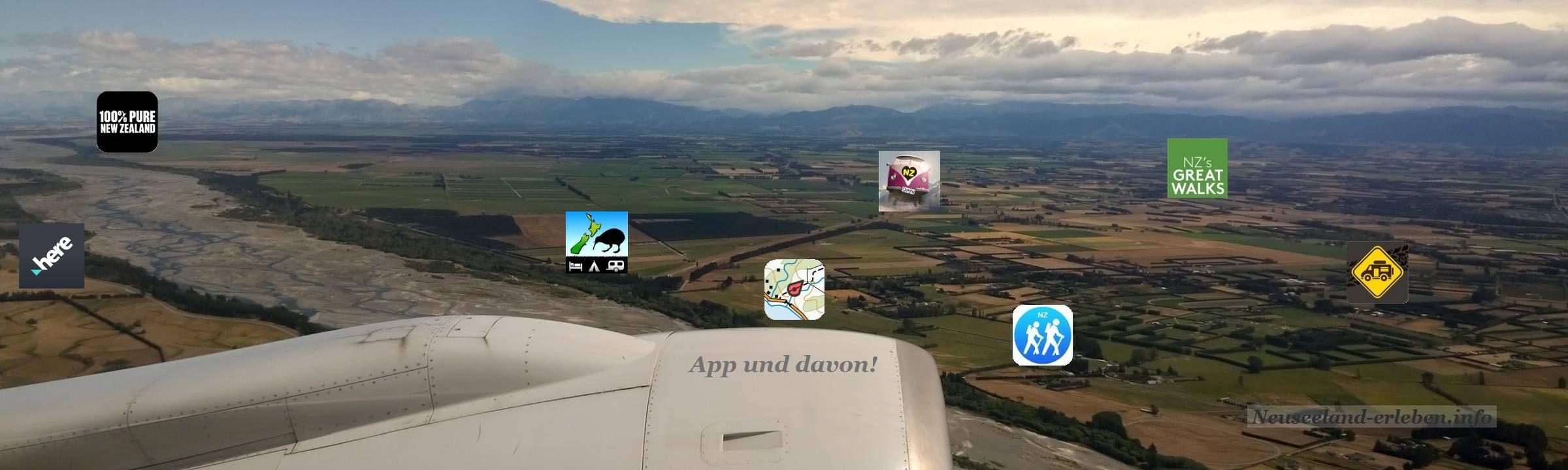 Neuseeland von oben - aus einem Air New Zeland Flieger