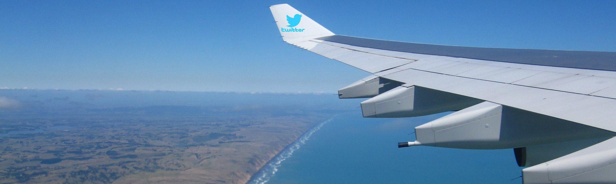 Flügel eines Flugzeugs, auf dem Weg nach Neuseeland
