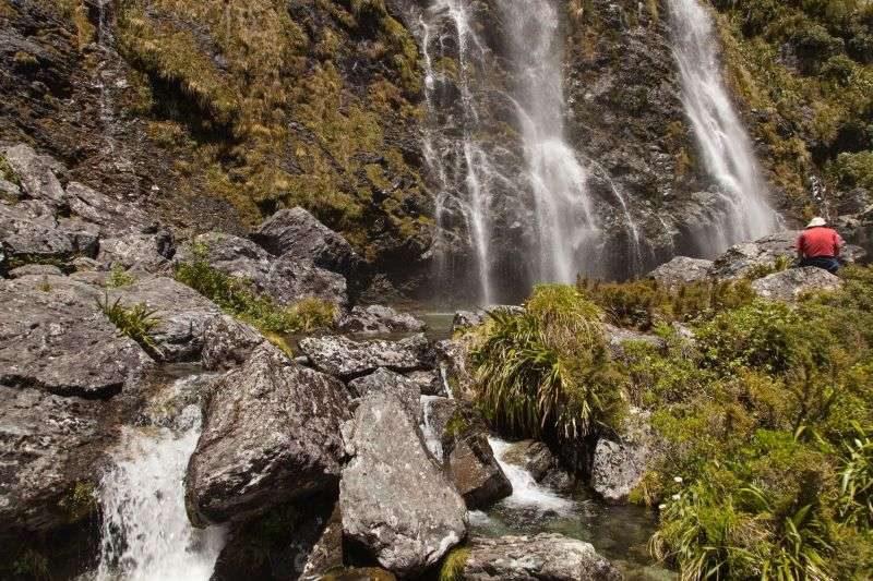 Earland Falls auf Neuseeland