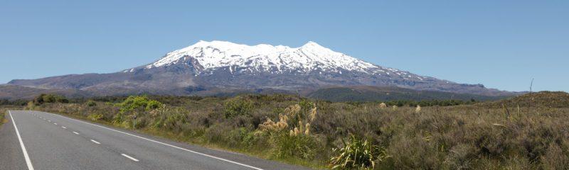 Straße zum Mount Ruhapeu