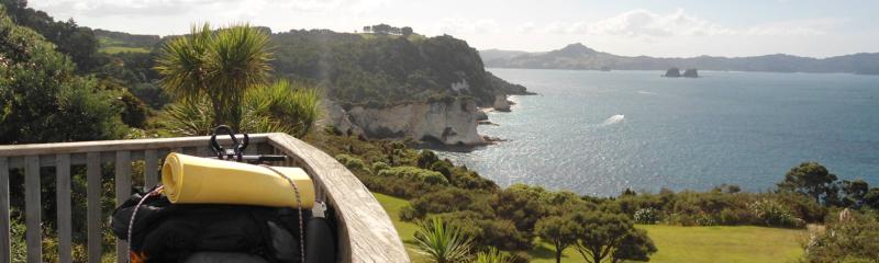 Ausblick auf eine wunderschöne Bucht in Neuseeland