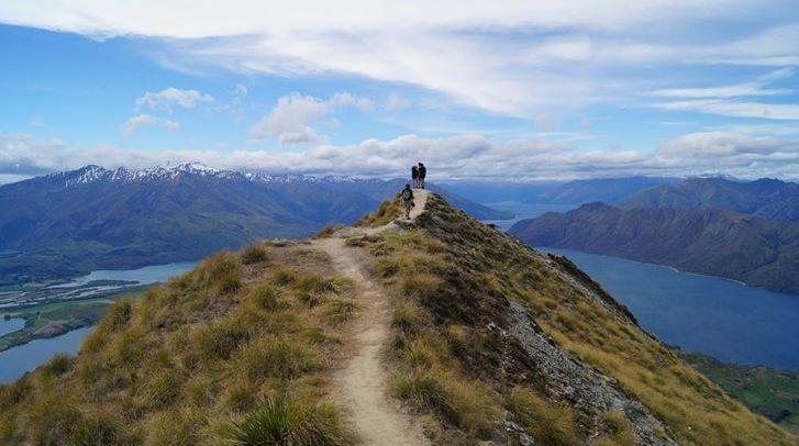 Blick vom Roys Peak Track auf Lake Wanaka