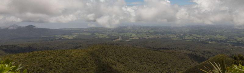 Fernsicht auf New Plymouth am Mount Taranaki in Neuseeland
