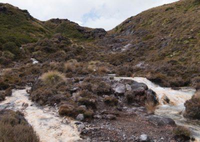 Irgendwo im Lava-Felsen entspringt der Fluss und gibt ab dann seine Mineralien frei.