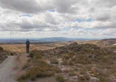 Freie Aussicht auf dem Wanderweg zu den Tama Lakes