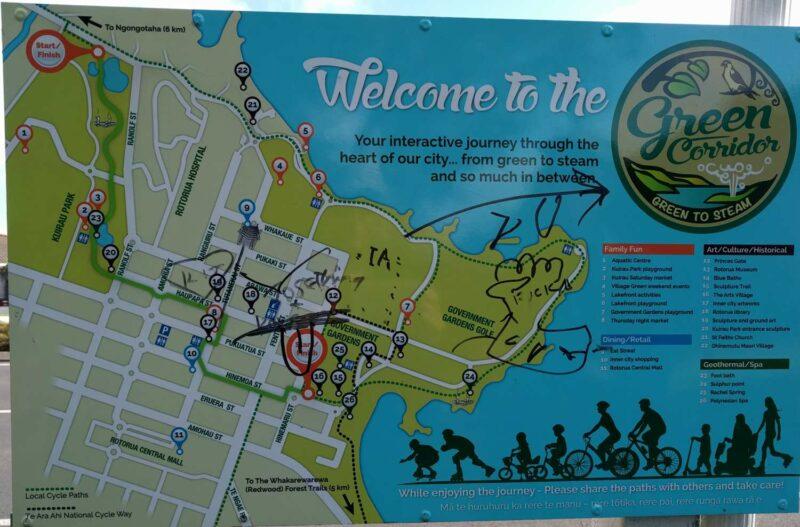 Wanderweg um Rotorua